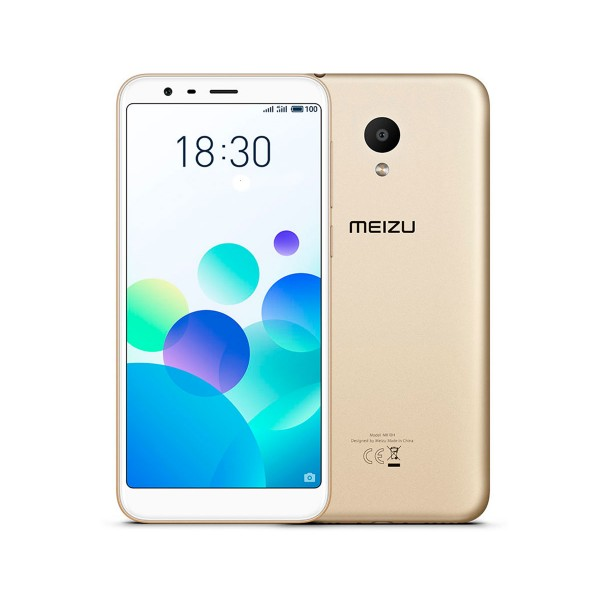 Meizu m8c dorado móvil 4g dual sim 5.45'' ips hd+/4core/16gb/2gb ram/13mp/8mp