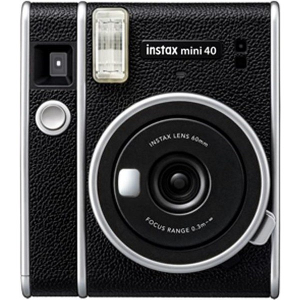 Fujifilm instax mini 40 negra/cámara instantánea con flash de alto rendimiento