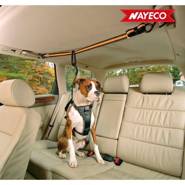 Cinturon de coche para mascotas auto zip line c/correa de amarre kurgo