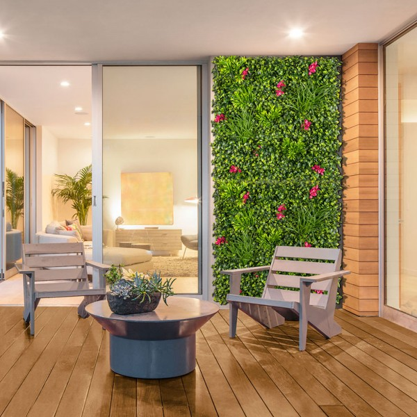 Jardín vertical villa imitación flores buganvilla  1x1m  nortene